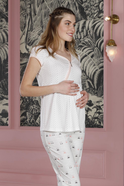 Hays Mom Fermuar Detaylı Penye 2li Pijama Takımı