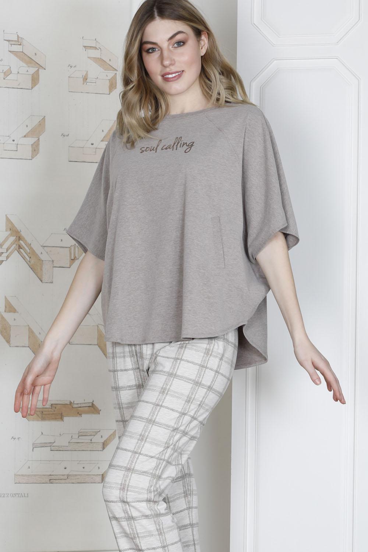 Hays Plus Size Kadın Penye Midi Pijama Takımı