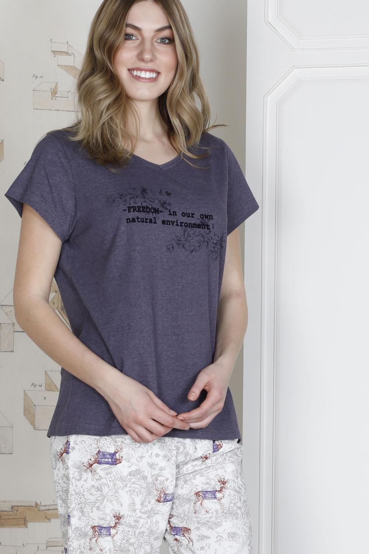 Hays Plus Size Kadın Penye Pijama Takımı