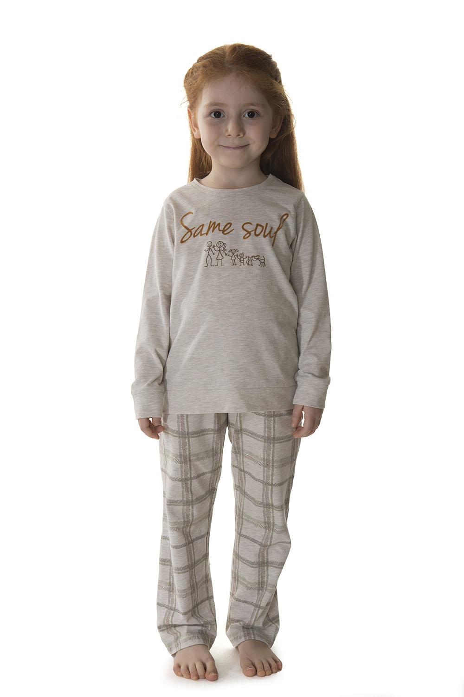 Hays Kids Kız Çocuk Ekose Desenli Pijama Takımı