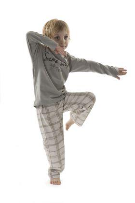 Hays Kids Erkek Çocuk Ekose 2li Uzun Penye Pijama Takımı