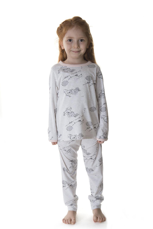 Hays Kids Kız Çocuk Ayıcık Baskılı Penye Modal Pijama Takımı