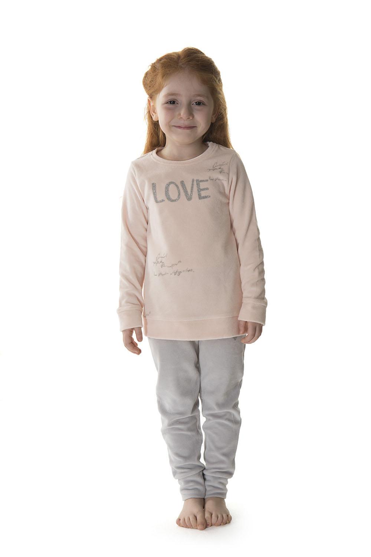 Hays Kids Kız Çocuk Kadife 2li Uzun Pijama Takımı