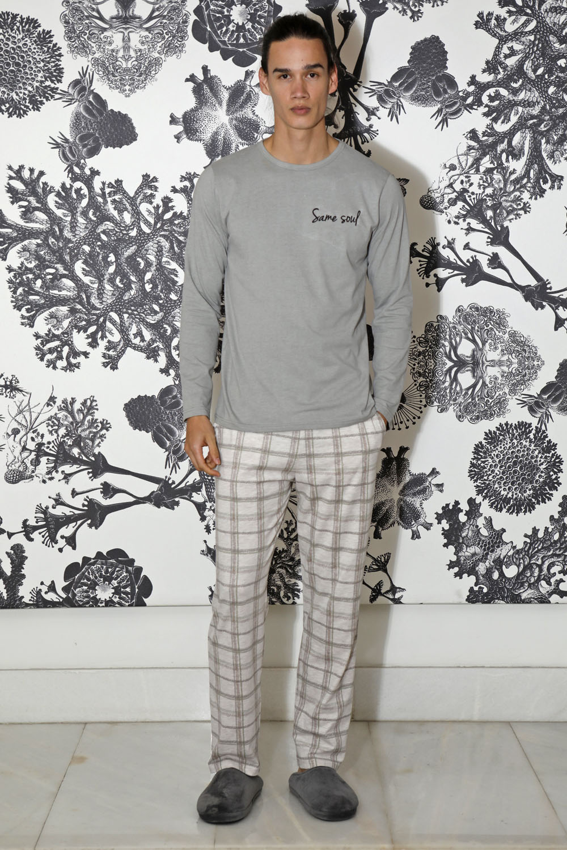 Hays Men Erkek Ekose Uzun Penye Pijama Takımı
