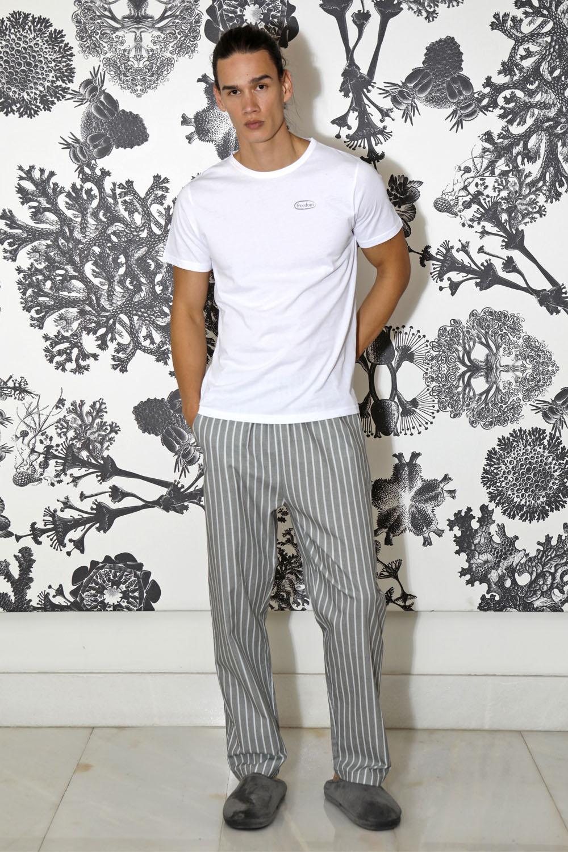 Hays Men Penye Erkek Kısa Kollu Üst Dokuma Uzun Alt Pijama Takımı