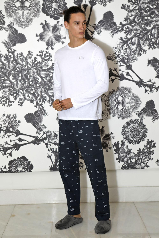 Hays Men Penye Erkek Uzun Kollu Üst Dokuma Uzun Alt Pijama Takımı