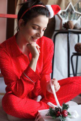 Hays Kadın Kalp Baskılı Pijama Üstü