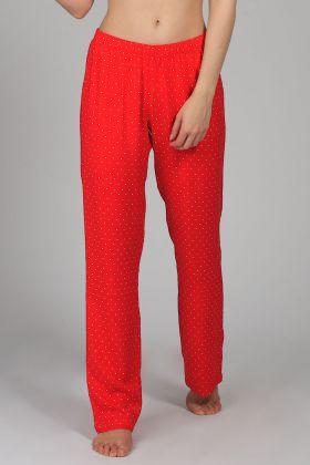 Kadın Kalp Baskılı Pijama Altı
