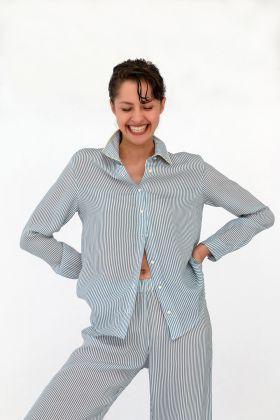 Kadın Gömlek Model Uzun Kollu Cupro Üst