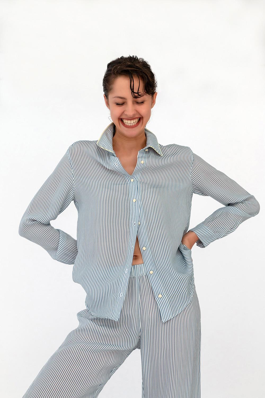 Hays Kadın Gömlek Model Uzun Kollu Cupro Üst
