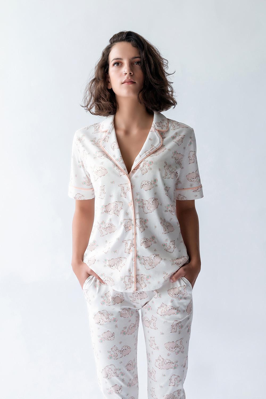 Hays Kadın Gömlek Model Kısa Kollu Penye Üst
