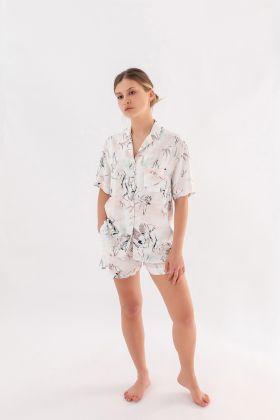 Hays Kadın Gömlek Model Kısa Kollu Dokuma Üst