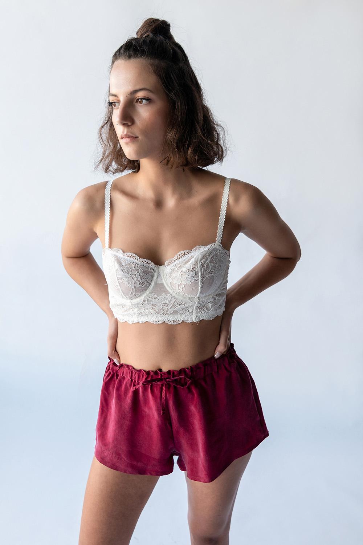 Hays Kadın Yüksek Bel Mini Cupro Şort