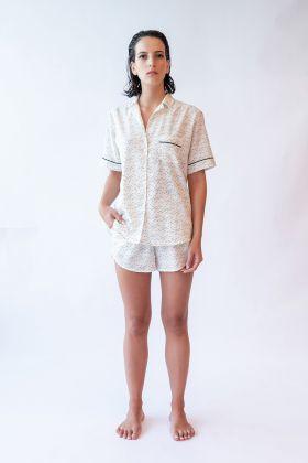 Kadın Gömlek Model Kısa Kollu Cupro Cotton Üst