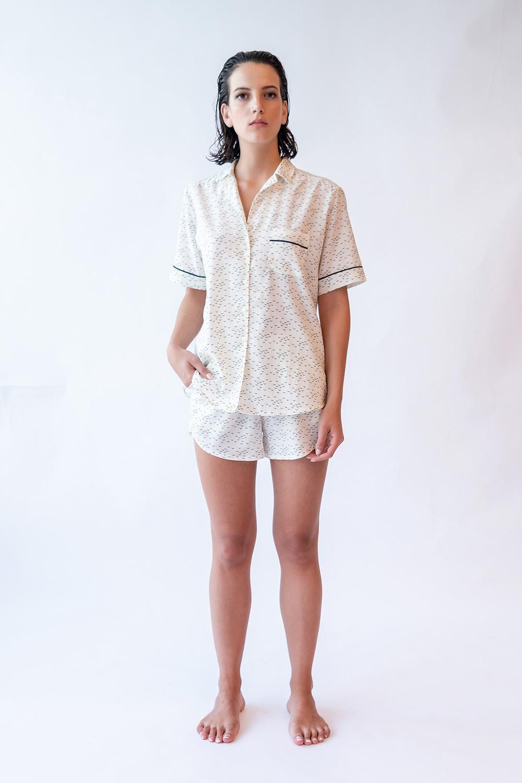 Hays Kadın Gömlek Model Kısa Kollu Cupro Cotton Üst