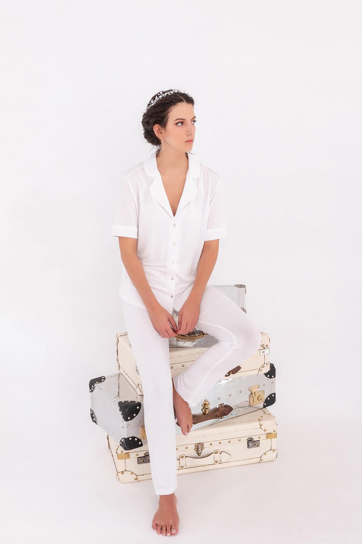 Hays Kadın Gömlek Yaka Kısa Kollu Modal Üst