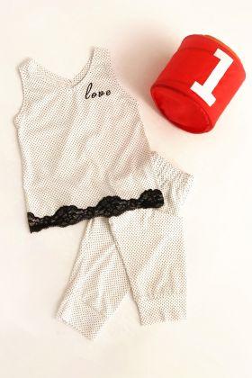 Kız Çocuk Kapri Pijama Takımı