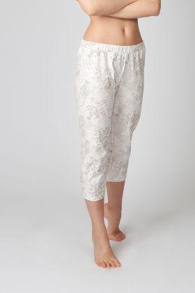 Kadın Lila Desenli Kapri Midi Pijama Altı