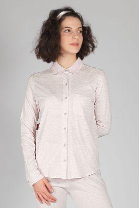 Kadın Gömlek Modal Pijama Üstü