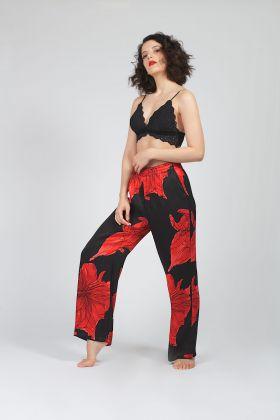 Hays Vegan Kırmızı Desenli Pantolon