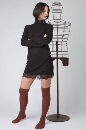 Hays Kadın Boğazlı Triko Elbise
