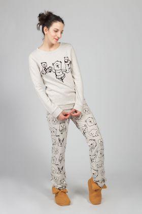 Hays Kadın Kahve Desenli Pijama Takımı