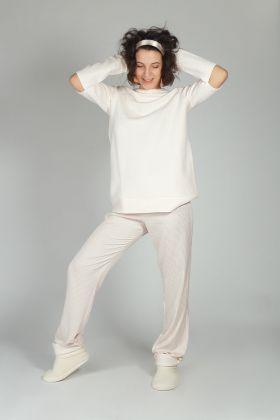 Hays Kadın Triko Üst Dokuma Alt Pijama Takımı