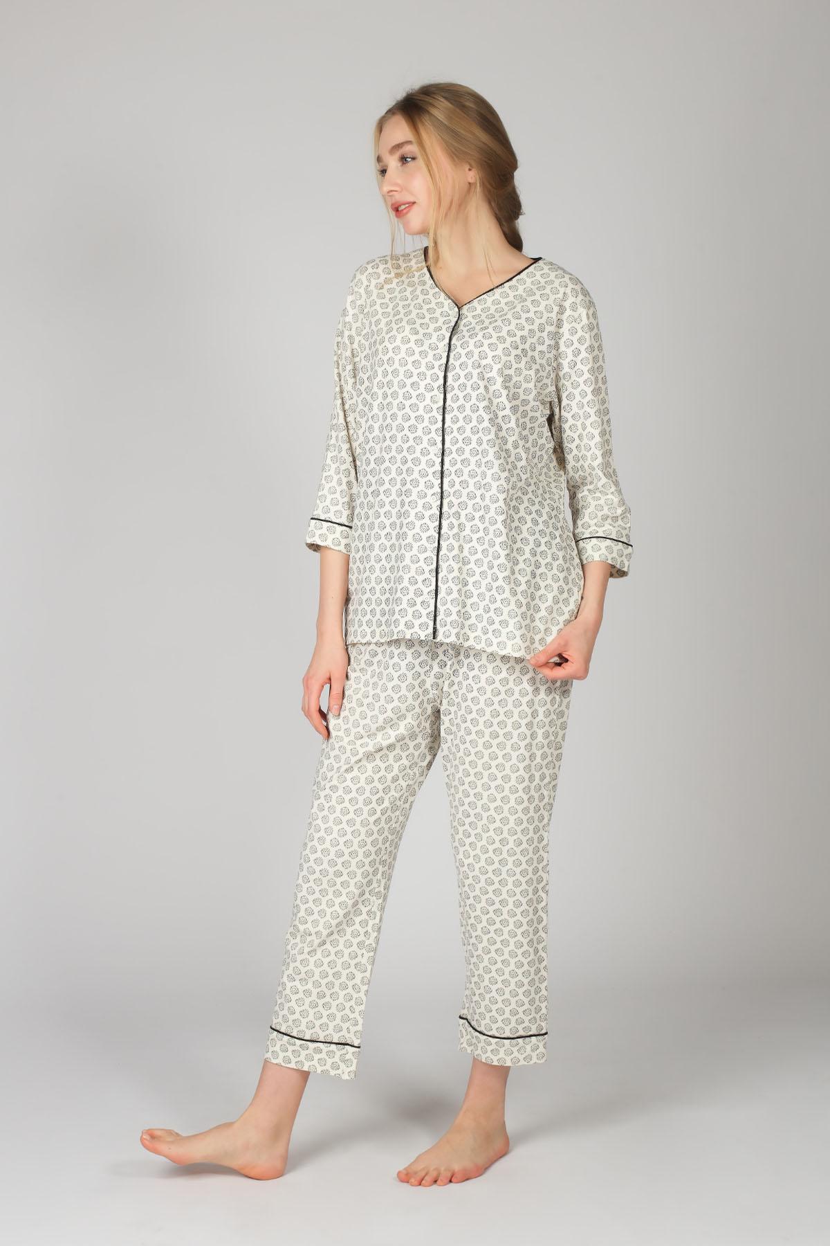 Hays Kadın Büyük Beden Gömlek Model Pijama Takımı