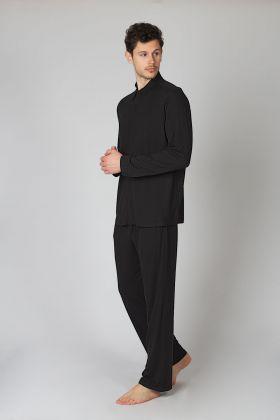 Hays Erkek Gömlek Model Siyah Pijama Takımı