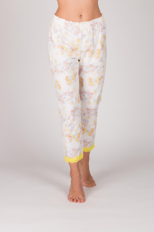 Hays Kadın Sarı Dantel Detaylı Midi Pantolon