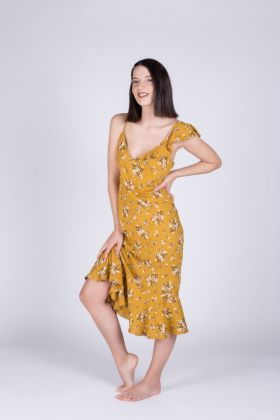 Kadın Fırfır Detaylı Elbise