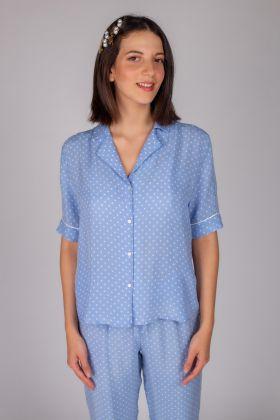 Kadın Puan Baskılı Gömlek