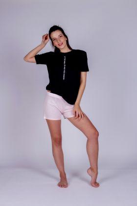 Hays Kadın Yuvarlak Yaka Siyah Penye T-Shirt