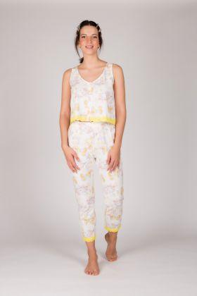 Kadın Kolsuz Midi Pijama Takımı