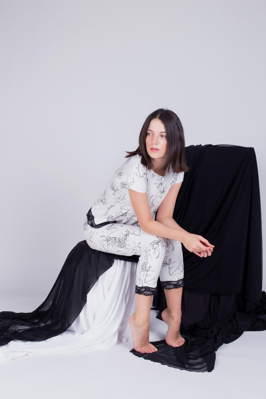 Hays Kadın Kısa Kollu Midi Pijama Takımı