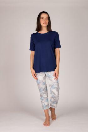 Hays Kadın Kolsuz  Midi Pijama  Takımı
