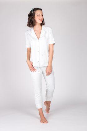 Hays Kadın Gömlek Yaka Üstlü Midi Pijama Takımı