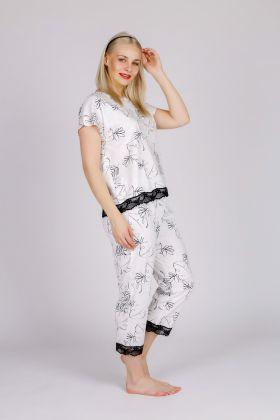 Hays Kadın Düşük Kollu Midi Pijama Takımı
