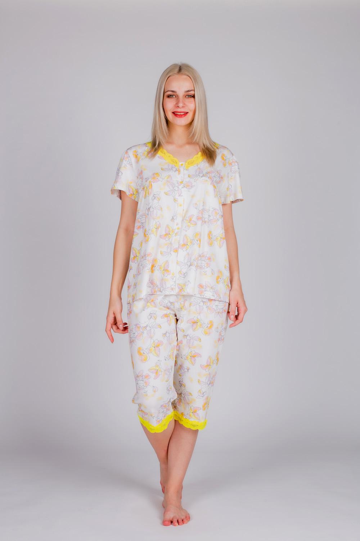 Hays Kadın Kısa Kollu Düğme Detaylı Kapri Pijama Takımı