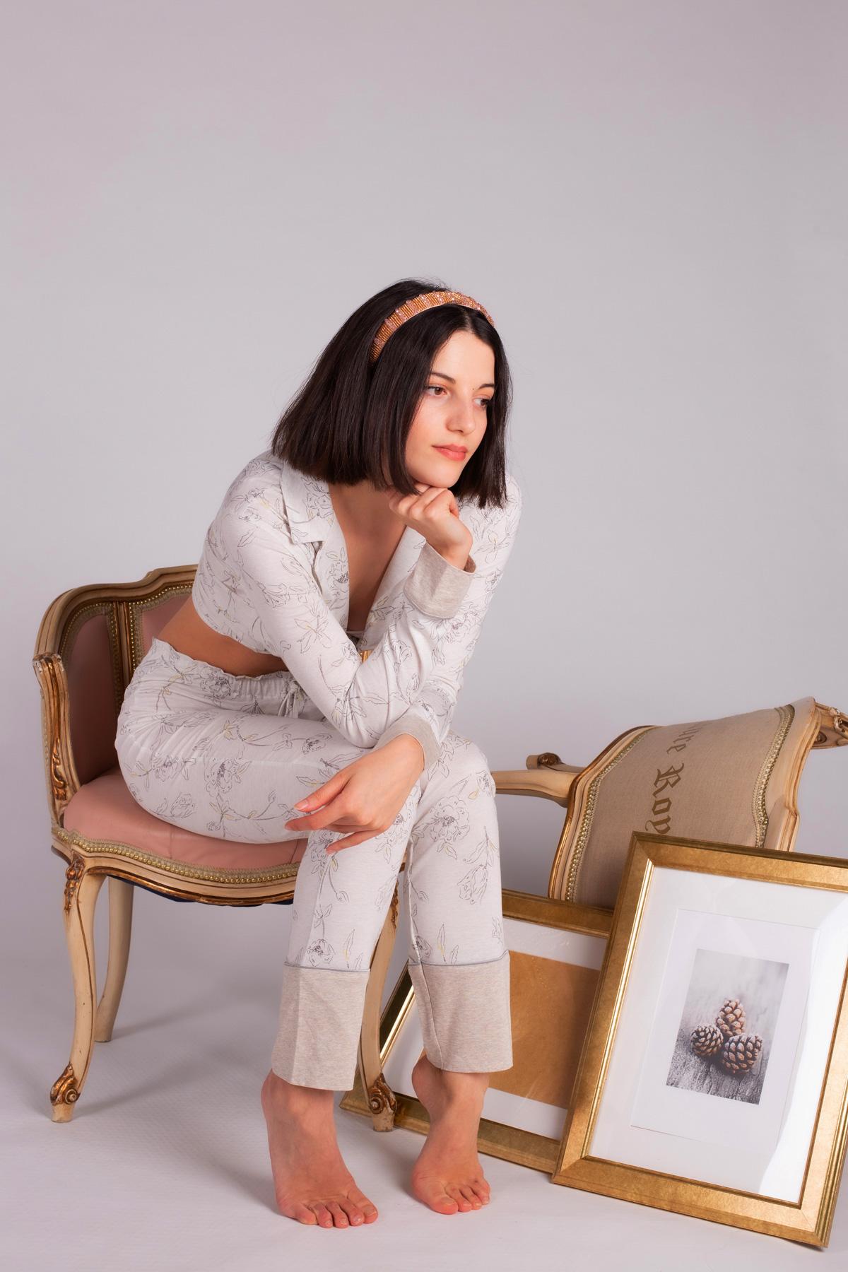 Kadın Modal Uzun Pijama Takımı
