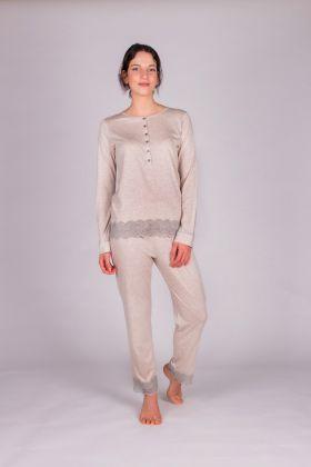 Kadın Modal  Dantel Detaylı Pijama Takımı