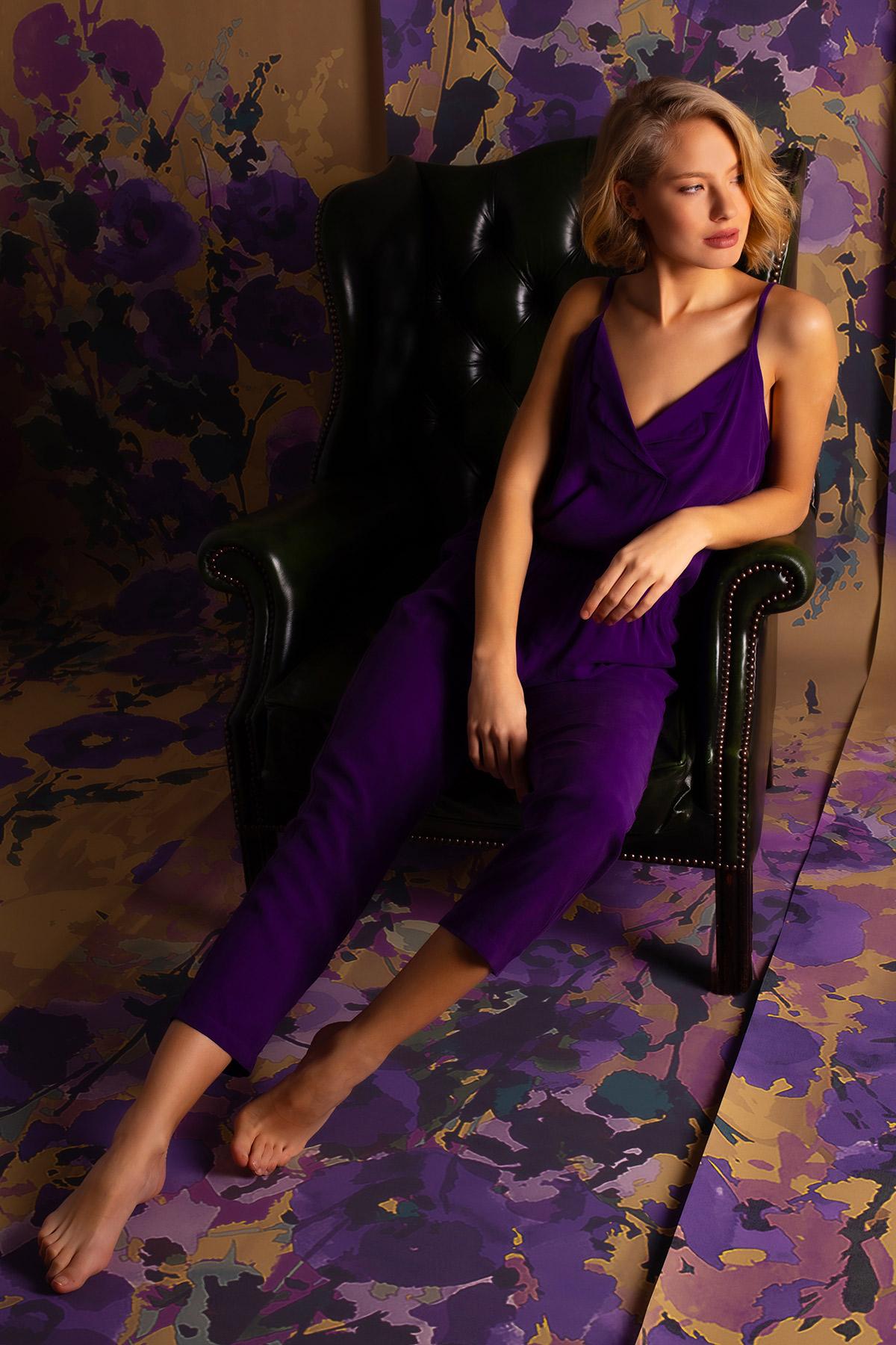 Kadın Vegan Uzun Pijama Takımı