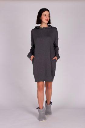 Kadın Kapşonlu Ev Elbisesi