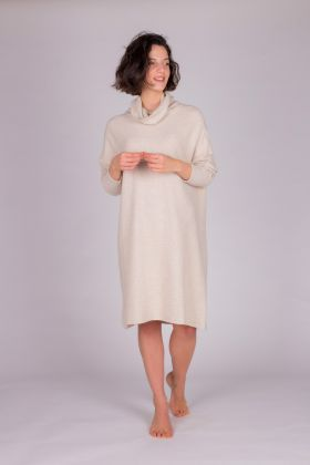 Kadın Boğazlı  Triko Kısa Elbise