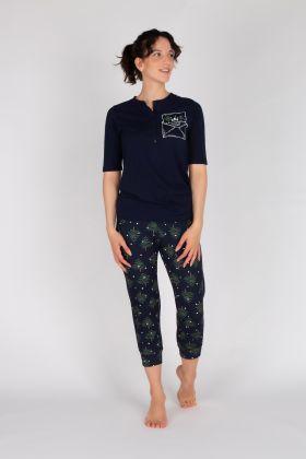 Kadın Penye Kapri Pijama  Takımı
