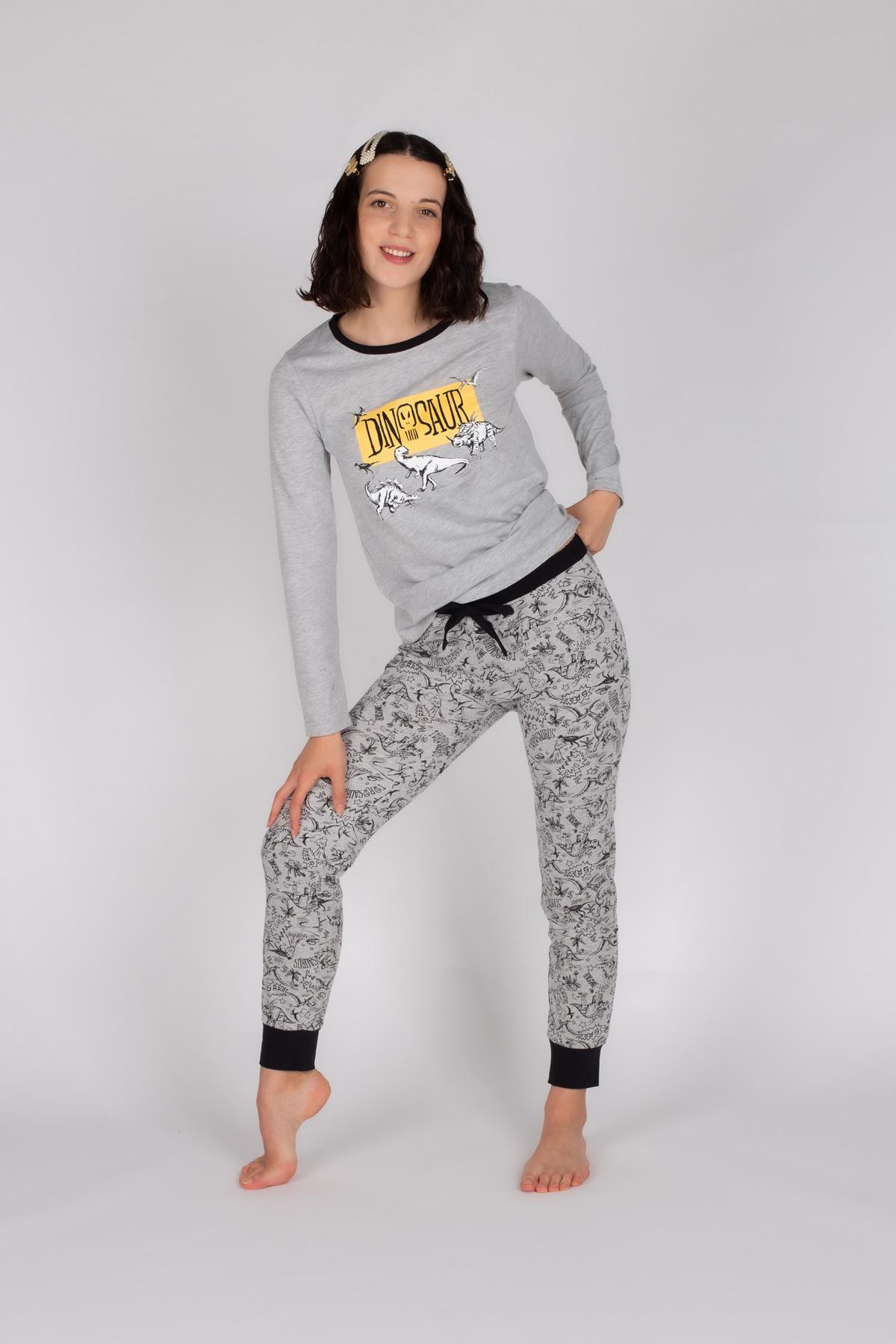 Kadın Pamuklu Uzun Pijama Takımı