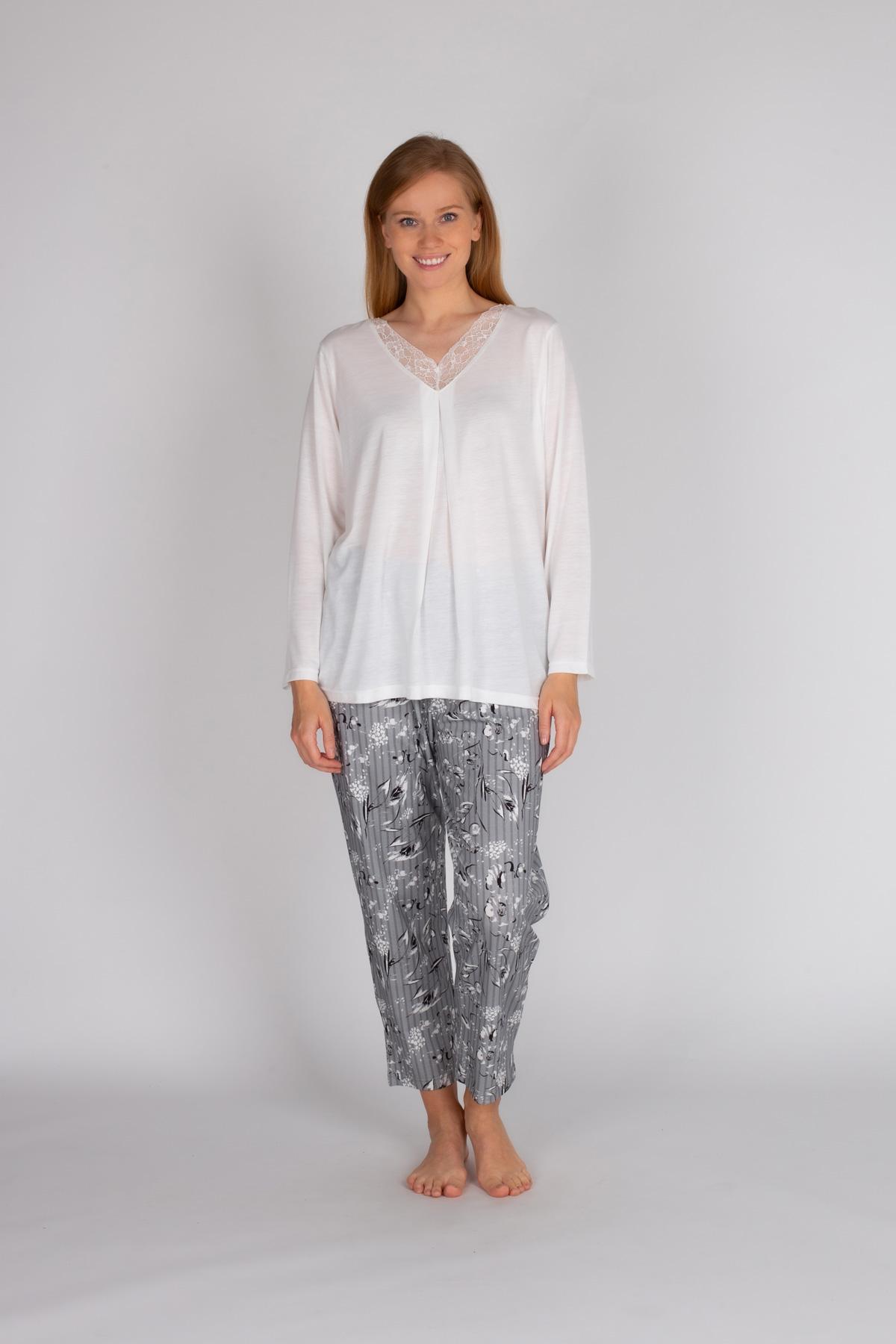 Hays Kadın Büyük Beden Uzun Pijama Takımı