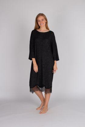 Kadın Triko Dantel Detaylı Büyük Beden Elbise