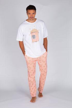 Erkek Pamuklu Uzun Pijama Takımı