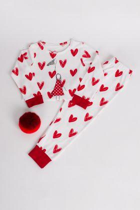 Kız Çocuk Kız Çozuk Uzun Pijama Takımı